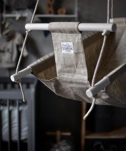 Naturell lin gunga för baby från Videung of Sweden