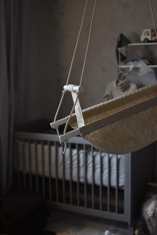 Naturell babygunga i lin - tyggunga för baby och barn